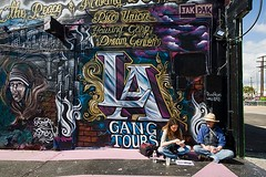 Jen Walsh and Lenore Fischer, Graff Lab - L.A. Gang Tours (Eric Wolfe) Tags: urban usa graffiti la losangeles downtown tour unitedstates crime tagging gangs tourguide bustour calfornia gangtours original:filename=20100220326jpg