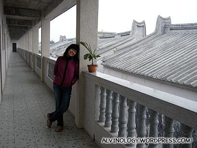 Rachel on the second floor