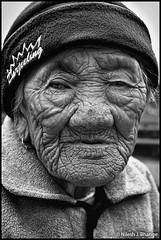Lines of Ages (bnilesh) Tags: old india face aged wrinkles darjeeling