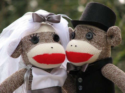 Bride and Groom Sock Monkey