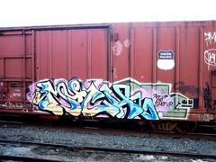 "Much ""Put up or shut up."" (R0UTE 44) Tags: train graffiti much ibd"