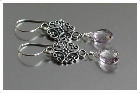 Mystic quartz briolette earrings