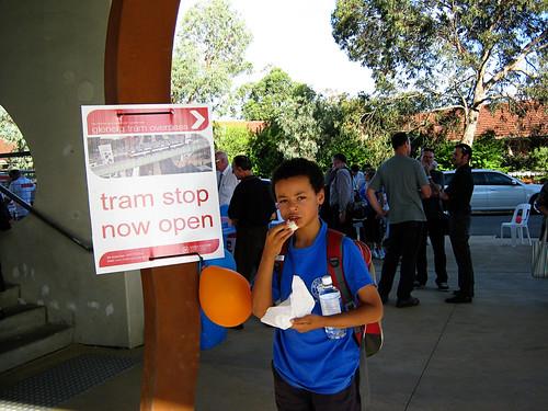 Tram overpass opening