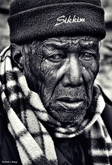 Sad Old Man (bnilesh) Tags: old portrait india senior closeup sikkim