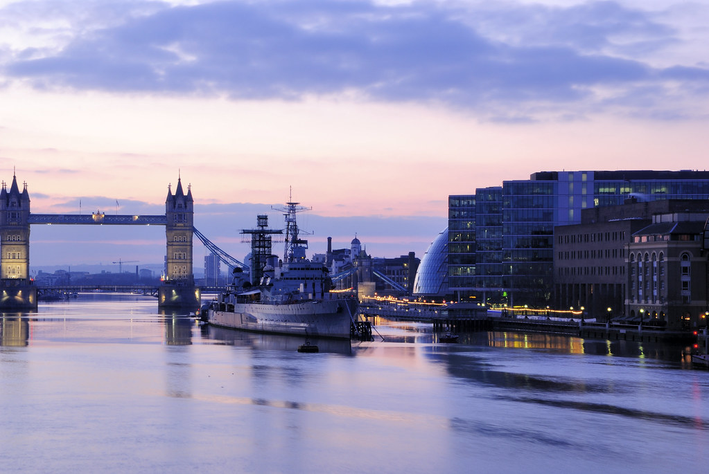 HMS Belfast at Sunrise