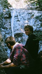 Will and Joe at Pfieffer Falls (inafreeland) Tags: california film waterfall kodak bigsur joe will aps canoneosix pfiefferfalls