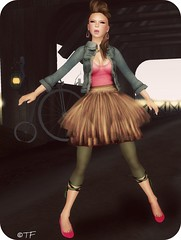Girlish (THEMA.FELIX) Tags: pink silly cute girl fashion blog pretty action felix many version skirt secondlife virtual lamb styles bp atomic belleza thema