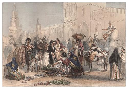 013-El Mercado en Valencia-Voyage pittoresque en Espagne et en Portugal 1852- Emile Bégin