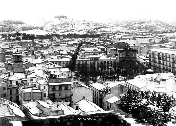 malaga sous la neige le 2 février 1954