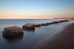 Blyth Beach High Tide (Mark Innes) Tags: ocean sea beach landscape high sand war tide timeexposure northumberland defense blyth canon24105mm 10stop canon5dmk2 5dm2