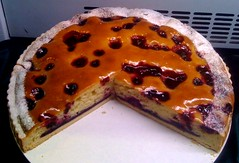 Morello Cherry Frangipan tart (tedesco57 -back from cruising Adriatic and Greece) Tags: cake cherry birmingham exhibition tart nec chantilly paignton morello foodex frangipan