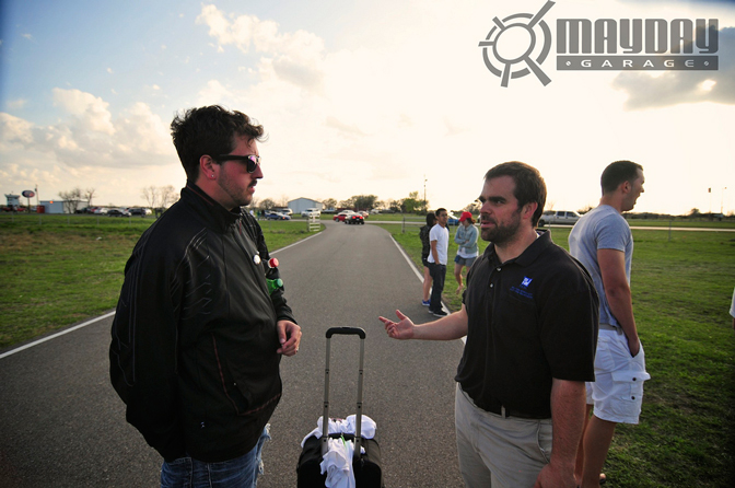 Nate from Modified Magazine rubbing elbows with the infamous JohnP from Mayday