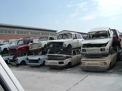 Friedhof (Crazy--Kaktus) Tags: rotting trabant scrapheap wartburg ifa vergessen junkheap autofriedhof schrottplatz ausgeschlachtet autowracks