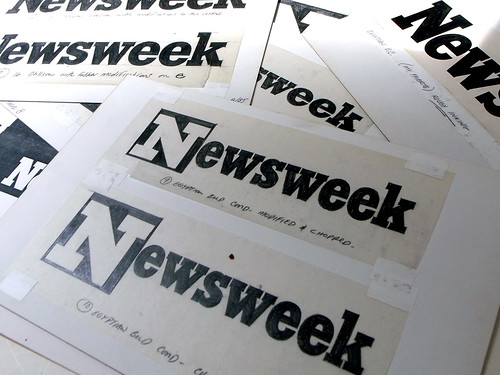 Newsweek Logo Process by Jim Parkinson