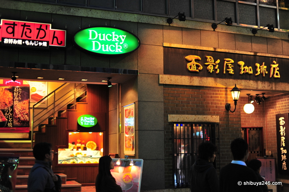 Pasta-kan okonomiyaki, Ducky Duck and coffee. Which one to choose?