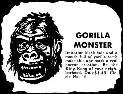 GORILLA MONSTER magazine mask advertisement