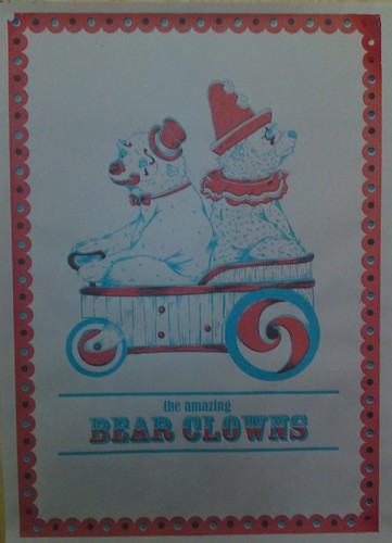 Clown Bear Print