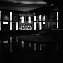 Science Fiction Movie Set, circa 1954 (geraldfigal) Tags: bw 120 philadelphia monochrome marriott retro pinhole scifi diafine acros100