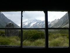 Old Window (The Pocket Rocket) Tags: shelterhut window hookervalleywalk swingbridges aorakimtcooknationalpark mtcook southisland newzealand smileonsaturday roomwithaview