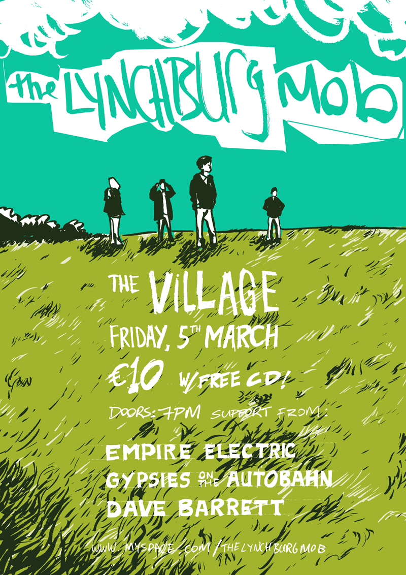 The Lynchburg Mob @ The Village poster