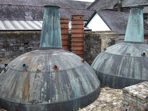 Old stills at Kilbeggan Distillery