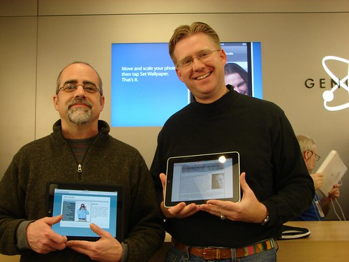 Bob Sprankle and Wesley Fryer - iPad Lau by Wesley Fryer, on Flickr