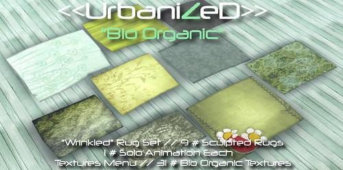 """<<UrbanizeD>> Rugs Set """"Wrinkled"""" // Bio Organic"""