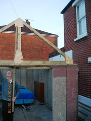 modular garage roof truss final assembly DSCN2144 (DrJohnBullas) Tags: roof concrete gun glue garage nail guages plywood assembly reinforced templates truss nailgun modualr downloadedusingbulkrhttpclipyourphotoscombulkr