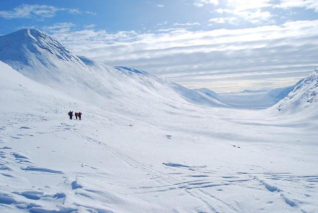 Descenso del paso de Tjäktja