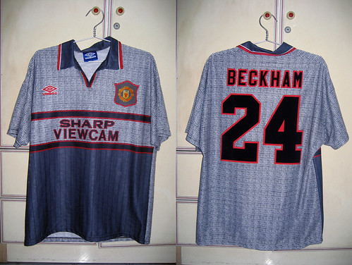 Manchester United 1995-1996 Away S/S (BECKHAM)