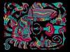 Doodle 1/17/2010 (Daily Doodles) Tags: pink flowers blue red wild blackandwhite orange plants abstract art colors modern illustration pen ink cacti painting poster graffiti design sketch rainbow artwork 60s colorful folkart outsiderart purple spectrum bright drawing mixedmedia abstractart contemporaryart contemporary vibrant modernart surrealism stripes gray violet indigo vivid doodle zen 70s hippie surrealist meditation sharpie psychedelic linedrawing surrealart artprint blueart colorfulart purpleart dailydoodles surrealistart yellowart zentangle doodledrawing