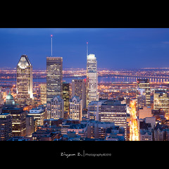 City lights (Ziyan | Photography) Tags: sunset canada night canon downtown cityscape montreal  montroyal       canonef24105mmf4lisusm 24105mmf4