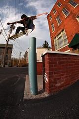 Jordan D00sh (ZGriswold Photo) Tags: brick canon board pole fisheye ollie skate skateboard 5d strobe elinchrom strobist
