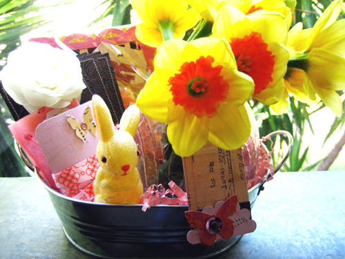 Rosy Easter Kit Basket
