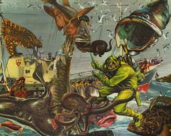 the great revenge (bezembinder) Tags: collage duck fishing fishermen revenge diver trawler bezembinder sterkspuldiefishermensfriend