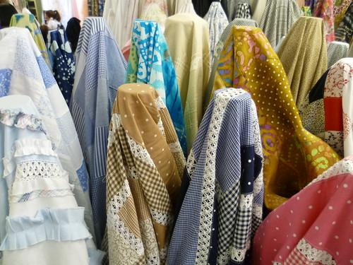 Opções de tecidos