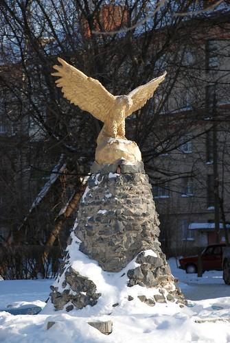 Горный орёл на вершине в Подольске ©  akk_rus