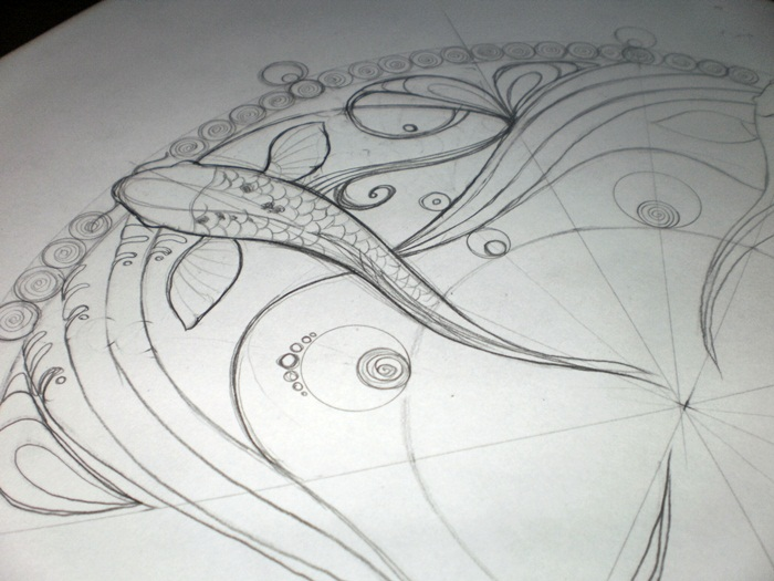 in progress: Materia: Water [mandala]