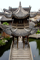Pavillion at the Hu Xue-yan House in Hangzhou (Pondspider) Tags: china house lake water architecture reflections garden pagoda chinese hangzhou mansion merchant hu pavillion zhejiang 1872 xueyan anneroberts annecattrell pondspider huxueyanhouse