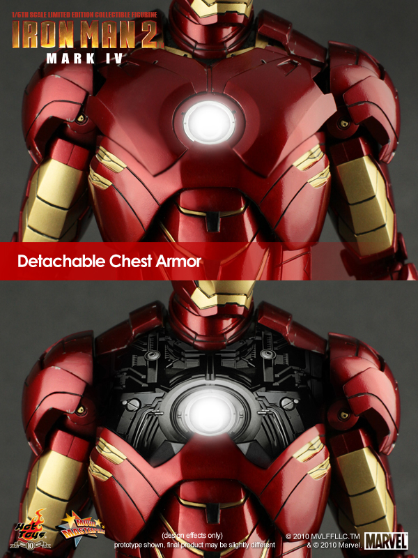Iron Man 2 Mark IV Limited Edition armadura pecho