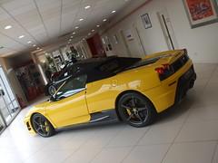 Ferrari 430 Scuderia 16M (George Matthews) Tags: uk cars car yellow spider george ferrari spyder surrey m exotic giallo 16 carbon modena sales rare scuderia supercar matthews egham maranello f430 supercars 430 fibre 16m supercarsuk
