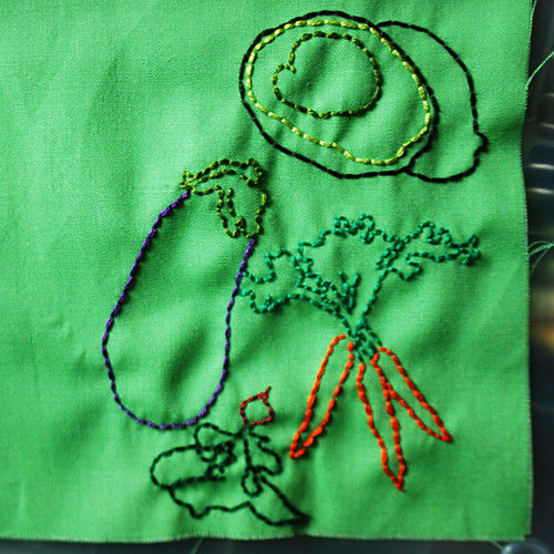 veggies stitching!