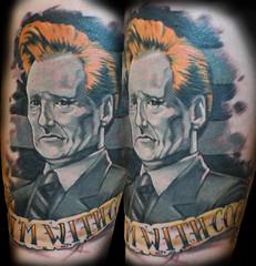 I'm with Coco. (Mez Love) Tags: portrait tattoo indiana tattoos shelbyville conanobrian mikemitchell guestspot greatamericantattoocompany mezlove imwithcoco tattooboogaloo