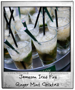 Jameson Iced Fire Ginger Mint Cocktail