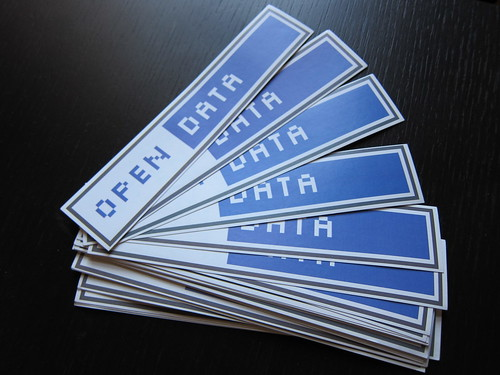 Open data stickers