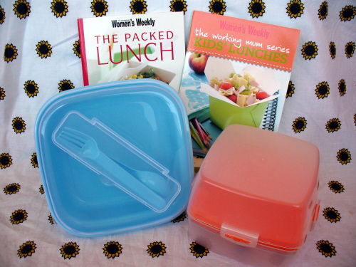 Blogoversary Giveaway - Lunch Boxes and Recipe Books