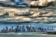 Big sky over Manhattan (_Robert C_) Tags: nyc ny newyork skyline brooklyn clouds bay harbor manhattan sigma hdr 70200mm d300 photomatix fortwadsworth topazadjust robertcatalano