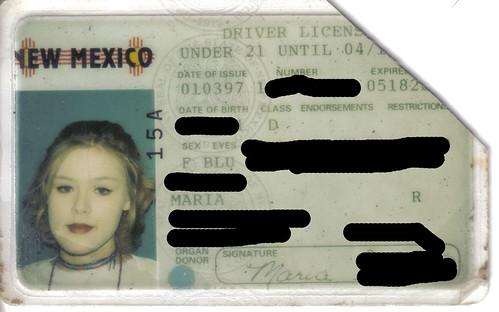 Maria1st driver's license