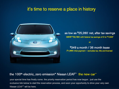 We reserved a Nissan LEAF!