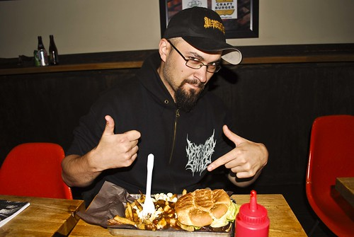 Photo by andbrice:  Eringe and his Craft Burger Meal